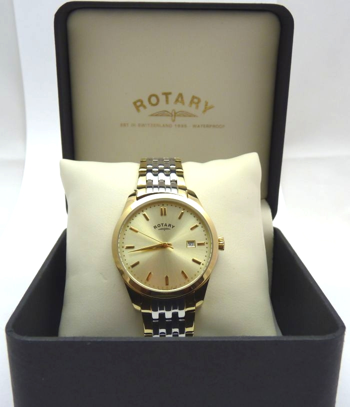 Rotary Clasic Two Tone Gents Watch